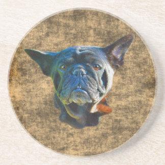Dessous De Verre En Grès Cadeau drôle d'art d'Animal-amant de chien de