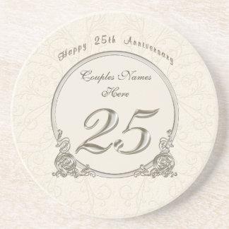 Dessous De Verre En Grès Cadeaux bon marché personnalisés d'anniversaire 25