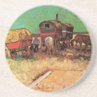 Dessous De Verre En Grès Campement des caravanes de gitans par Vincent van