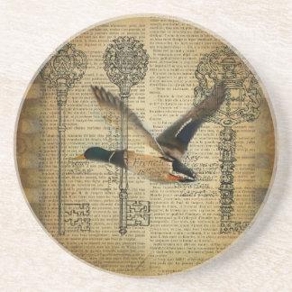 Dessous De Verre En Grès canard rustique de canard de pays occidental de
