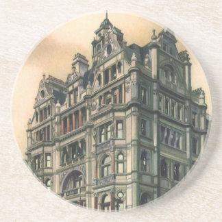 Dessous De Verre En Grès Carré vintage de Leicester d'hôtel de la Reine