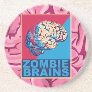 Dessous De Verre En Grès Cerveau de zombi