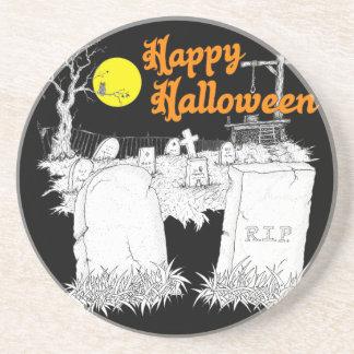 Dessous De Verre En Grès cimetière de Halloween