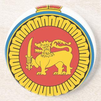 Dessous De Verre En Grès Coat_of_Arms_Ceylon_dominion