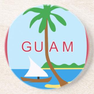 Dessous De Verre En Grès Coat_of_arms_of_Guam