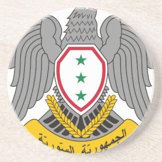 Dessous De Verre En Grès Coat_of_arms_of_Syria-1963