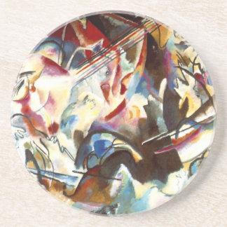Dessous De Verre En Grès Composition abstraite VI en Kandinsky