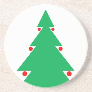 Dessous De Verre En Grès Conception 8,5 d'arbre de Noël par 8,5 le 21