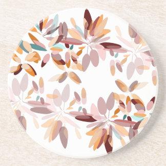 Dessous De Verre En Grès Copie de feuillage de couleurs d'automne