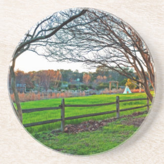 Dessous De Verre En Grès Coucher du soleil d'automne par Shirley Taylor