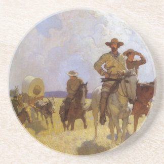 Dessous De Verre En Grès Cowboys vintages, l'équipement de Parkman par OR