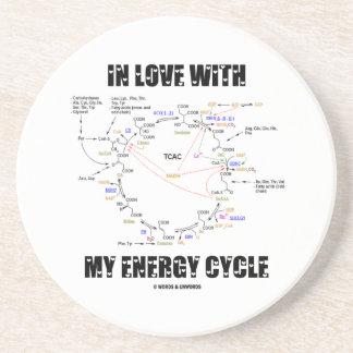 Dessous De Verre En Grès Dans l'amour avec mon cycle d'énergie (cycle de
