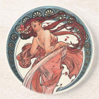 Dessous De Verre En Grès Danse par Alfons Mucha 1898