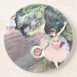 Dessous De Verre En Grès Danseur avec un bouquet des fleurs par Edgar Degas