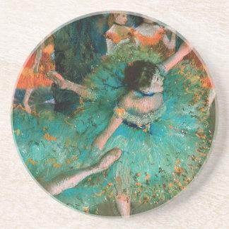 Dessous De Verre En Grès Danseur en vert par Edgar Degas