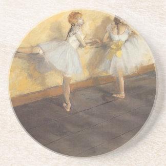 Dessous De Verre En Grès Danseurs à la barre par Edgar Degas, ballet