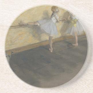 Dessous De Verre En Grès Danseurs pratiquant au barre - Edgar Degas
