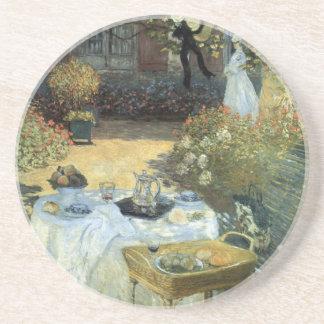 Dessous De Verre En Grès Déjeuner par Claude Monet, impressionisme vintage