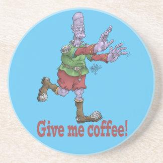 Dessous De Verre En Grès Donnez-moi le café ! Buvez le caboteur