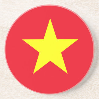 Dessous De Verre En Grès Drapeau du Vietnam