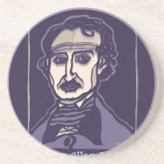 Dessous De Verre En Grès Edgar Allan Poe par FacePrints