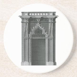 Dessous De Verre En Grès Élément architectural vintage, porte gothique