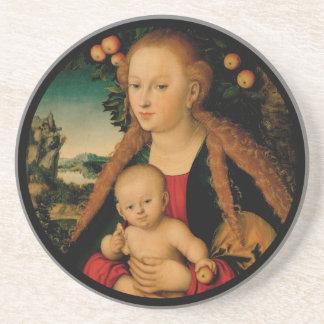 Dessous De Verre En Grès Enfant de Vierge sous le pommier Cranach