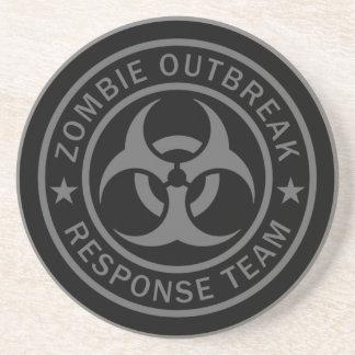 Dessous De Verre En Grès Équipe de réponse de manifestation de zombi