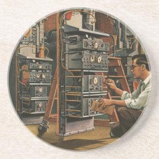 Dessous De Verre En Grès Équipement vintage de fixation de technicien de