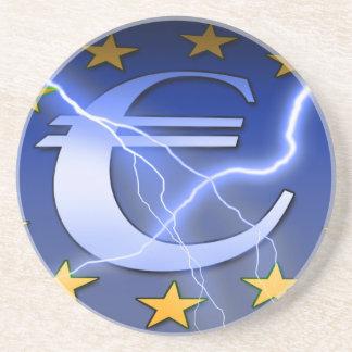 Dessous De Verre En Grès Euro-Drapeau