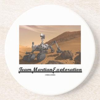 Dessous De Verre En Grès Exploration martienne d'équipe (curiosité Rover