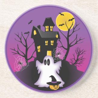 Dessous De Verre En Grès Fantôme éffrayant de Halloween