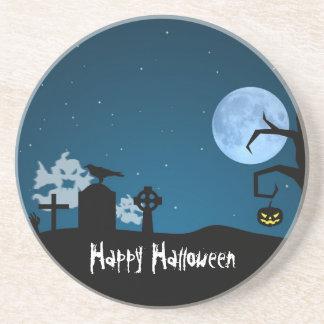 Dessous De Verre En Grès Fantômes de Halloween dans le cimetière - dessous