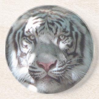 Dessous De Verre En Grès Fin blanche de tigre