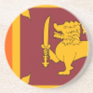 Dessous De Verre En Grès Flag_of_Sri_Lanka