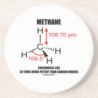 Dessous De Verre En Grès Gaz à effet de serre de méthane 20 fois plus