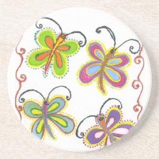 Dessous De Verre En Grès GirlyCreate votre propre beau papillon coloré