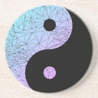 Dessous De Verre En Grès Gradient en pastel Yin Yang