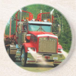 Dessous De Verre En Grès Grand art de camion et de route pour des