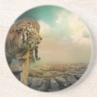 Dessous De Verre En Grès Grand tigre