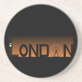 Dessous De Verre En Grès Horizon de Londres