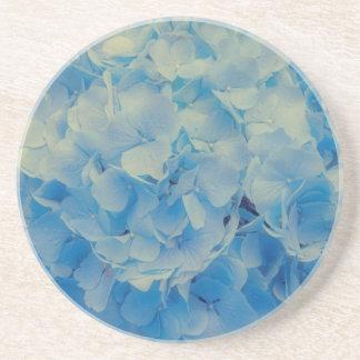 Dessous De Verre En Grès Hortensia bleu