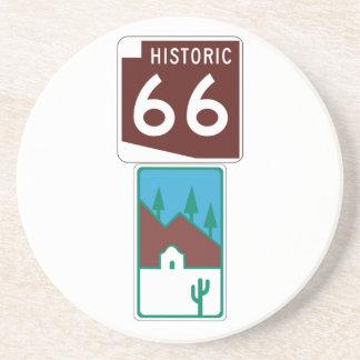 Dessous De Verre En Grès Itinéraire 66 - 66 historiques et route