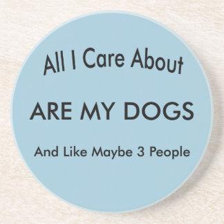 Dessous De Verre En Grès Je m'inquiète de mes chiens