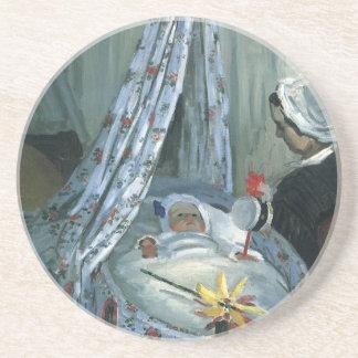 Dessous De Verre En Grès Jean Monet dans son berceau par Claude Monet