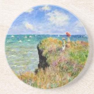 Dessous De Verre En Grès La falaise de Pourville de Claude Monet