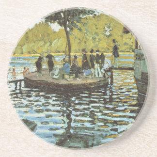 Dessous De Verre En Grès La Grenouillere - Claude Monet