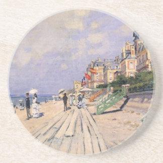 Dessous De Verre En Grès La promenade chez Trouville Claude Monet