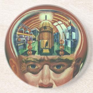 Dessous De Verre En Grès La science-fiction vintage, cerveau étranger dans