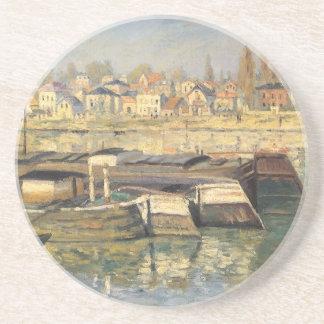 Dessous De Verre En Grès La Seine chez Asnieres par Claude Monet,